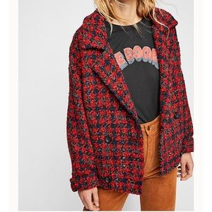 NWT $345 Free People boucle baby coat S